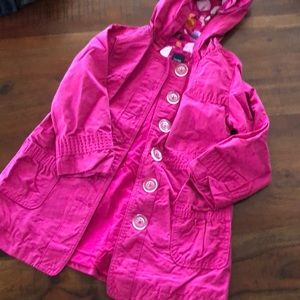Baby Gap Girls fuchsia coat size 4.